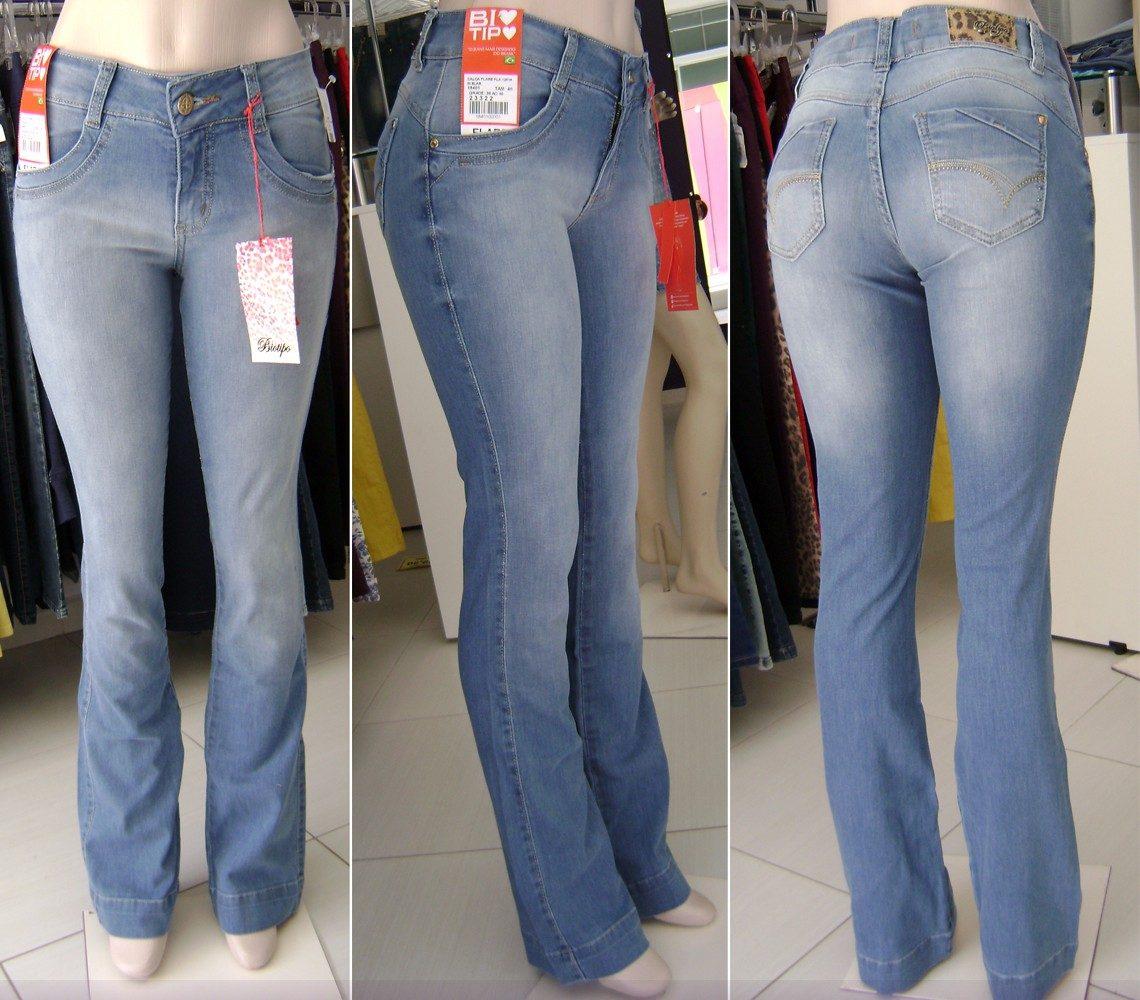 a5307605f calça jeans flare biotipo. Carregando zoom.