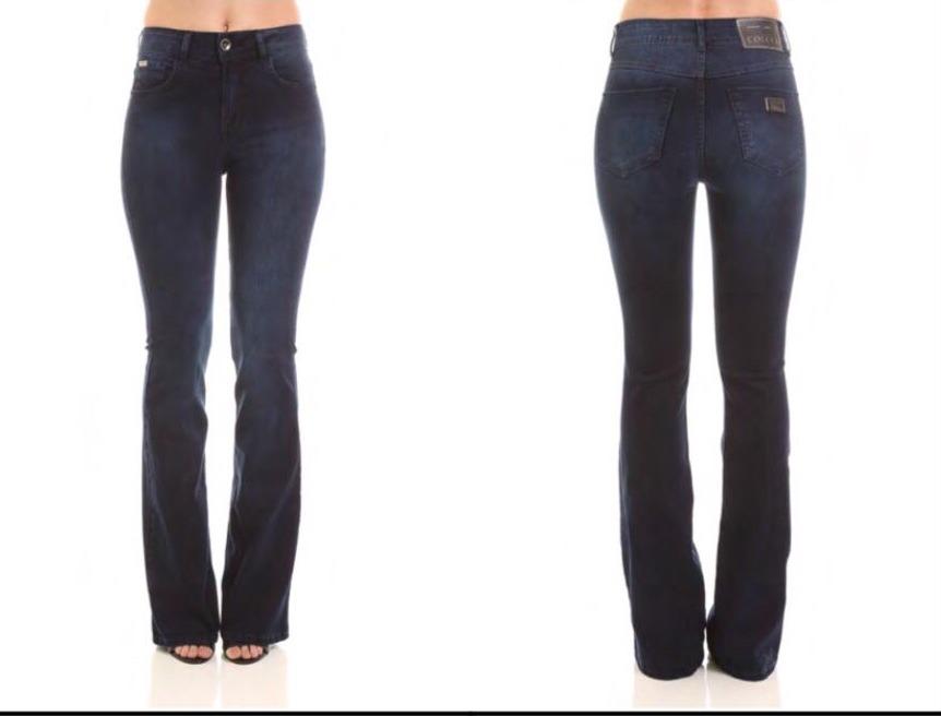 a7583a5917047 calça jeans flare fátima cintura média alta colcci original. Carregando  zoom.