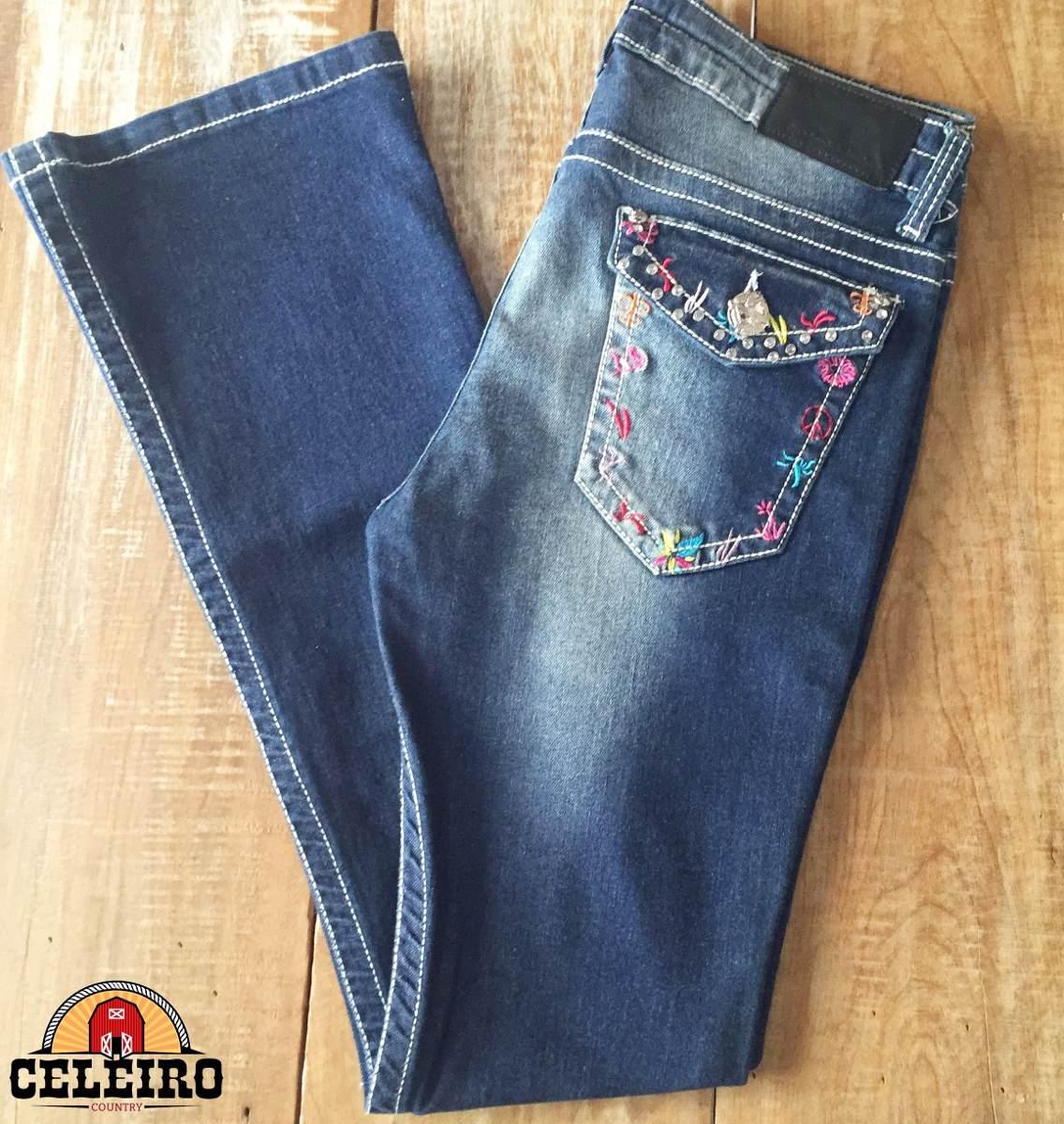 calça jeans flare feminina botanical garden zenz western. Carregando zoom. 642a08dd26f