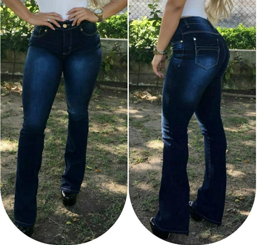eed6e7466 Calça Jeans Flare Feminina Linda - R$ 44,30 em Mercado Livre