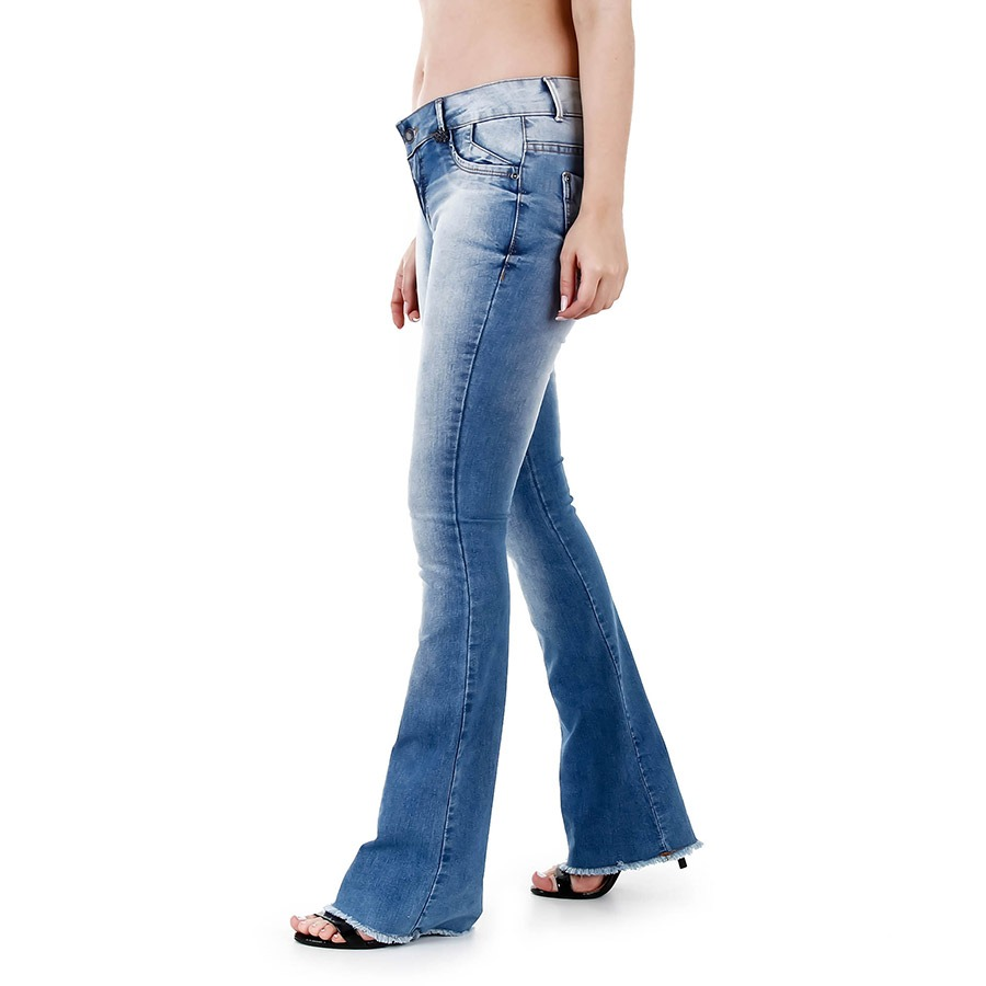 ff8cec9728 Calça Jeans Flare Feminina Max Denim - R$ 79,99 em Mercado Livre