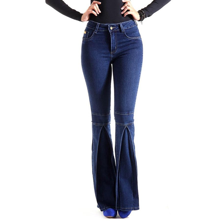 605d14e70 Calça Jeans Flare Feminina Sawary - R$ 169,99 em Mercado Livre