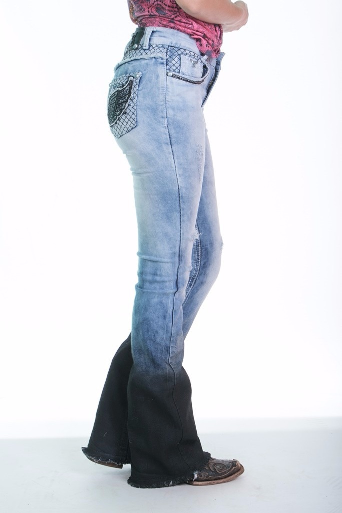 973253de08f calça jeans flare feminina zenz western angel wings promoção. Carregando  zoom.
