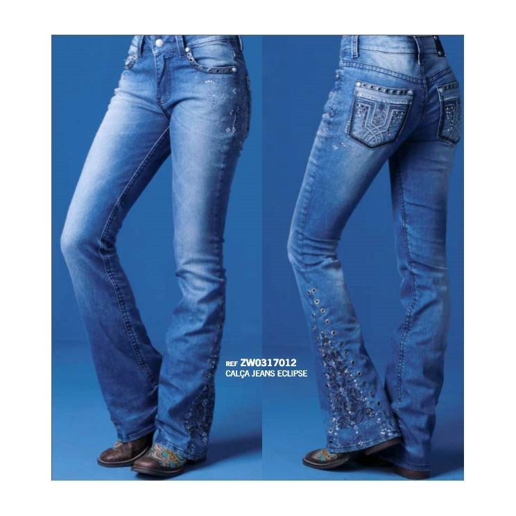 1bb9ee5f84c Calça Jeans Flare Feminina Zenz Western Eclipse Promoção - R$ 319,90 ...