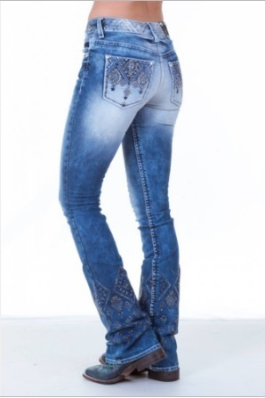 Calça Jeans Flare Feminina Zenz Western Galaxy Promoção - R  348 43043839305