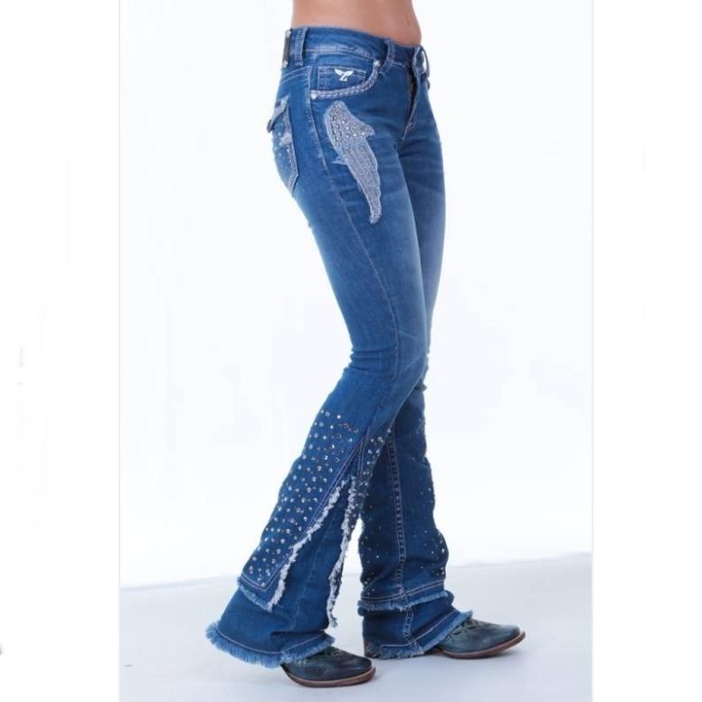884802d1f81 Calça Jeans Flare Feminina Zenz Western Hendrix Promoção - R$ 399,00 em  Mercado Livre