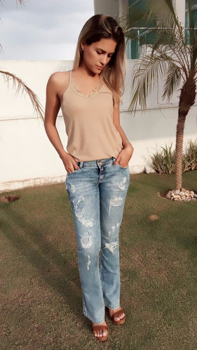 calça jeans flare frederika
