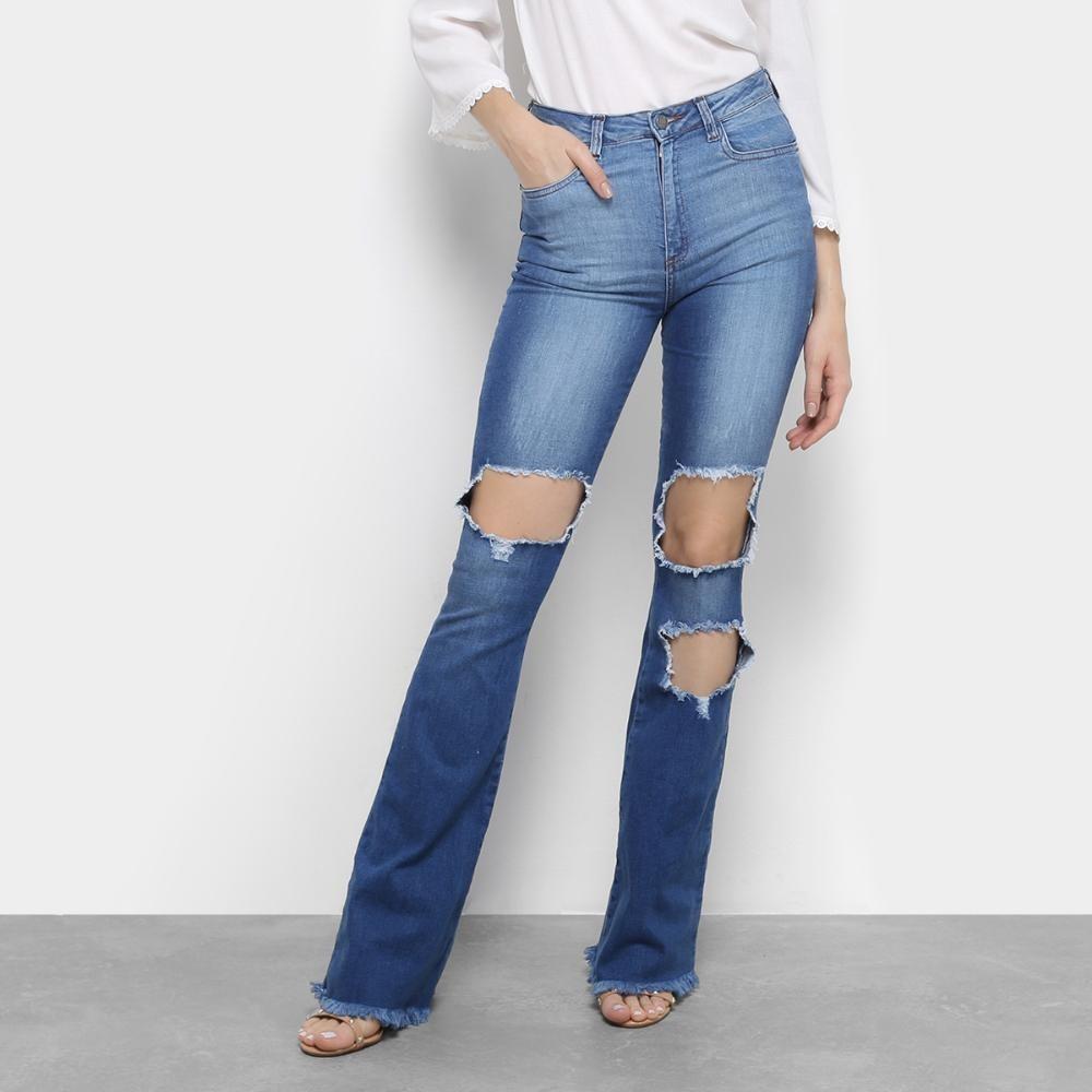 494ad33ef Calça Jeans Flare Handbook Tarsila Cintura Média - R$ 199,99 em ...