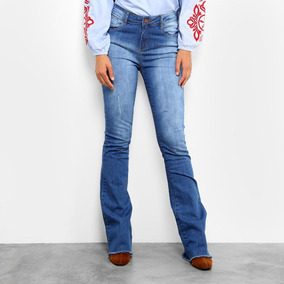 292c99d71 Cal A Jeans Equus Flare Estonada Azul - Calçados, Roupas e Bolsas no ...