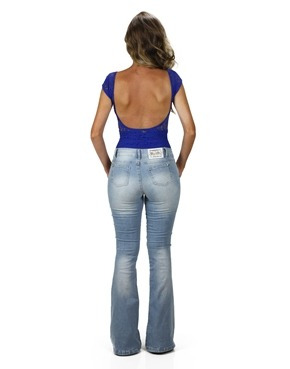 calça jeans flare planet girls