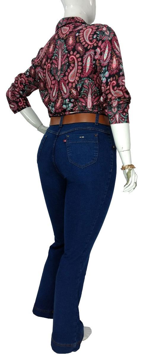 8d8e2715bd6e57 Calça Jeans Flare Plus Size Feminina Tamanho Grande Karla
