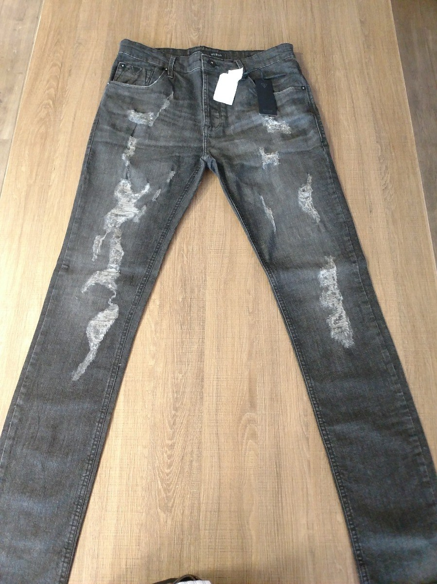 ddde1be4b Calça Jeans Guess Importada - R$ 349,90 em Mercado Livre