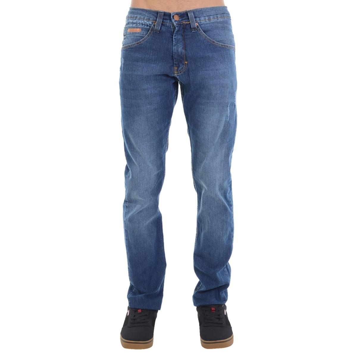 8e828863ed calça jeans hd slim fit básica azul. Carregando zoom.