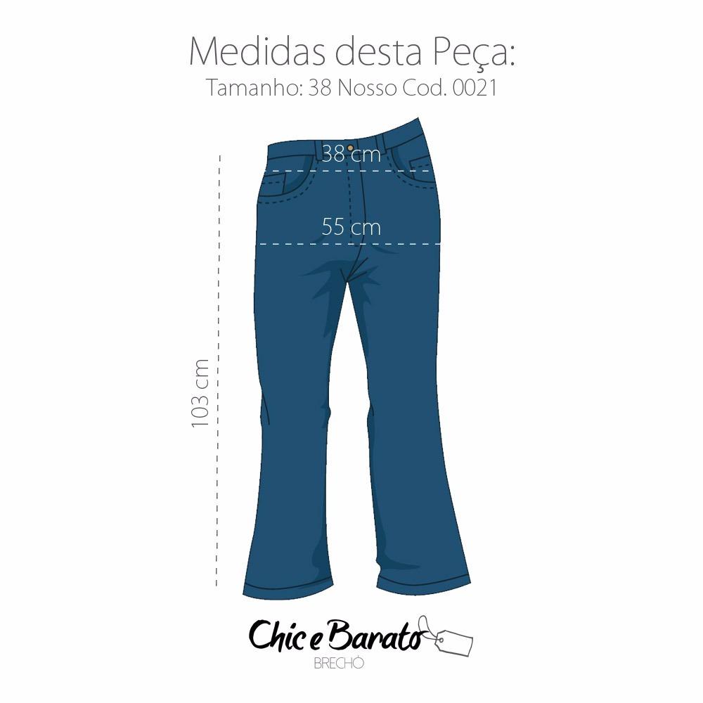2d3706d0fd Calça Jeans Feminina Hering Estilo Reta C  Stretch - Tam 38 - R  24 ...
