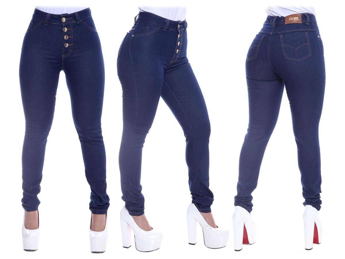 dff71dc25 calça jeans hot pants cintura alta cos alto 4 botões oferta. Carregando  zoom.