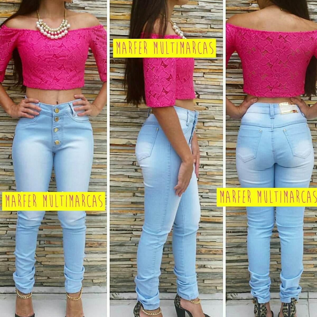 calça jeans hot pants modelos botões destroyed rasgada clara. Carregando  zoom. 6b9116facf7