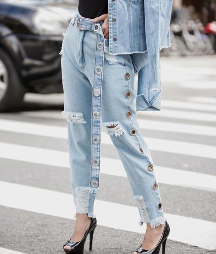 calça jeans ilhoes