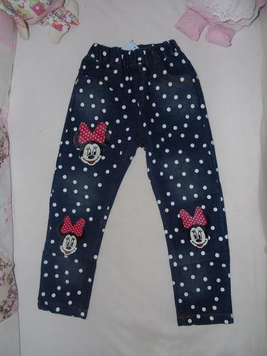 calça jeans infantil da minie produto importado loja fefinha