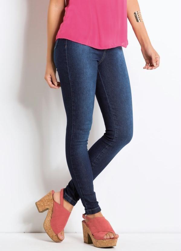 32d01c642 Calça Jeans Jegging Cintura Alta Quintess - R$ 137,80 em Mercado Livre