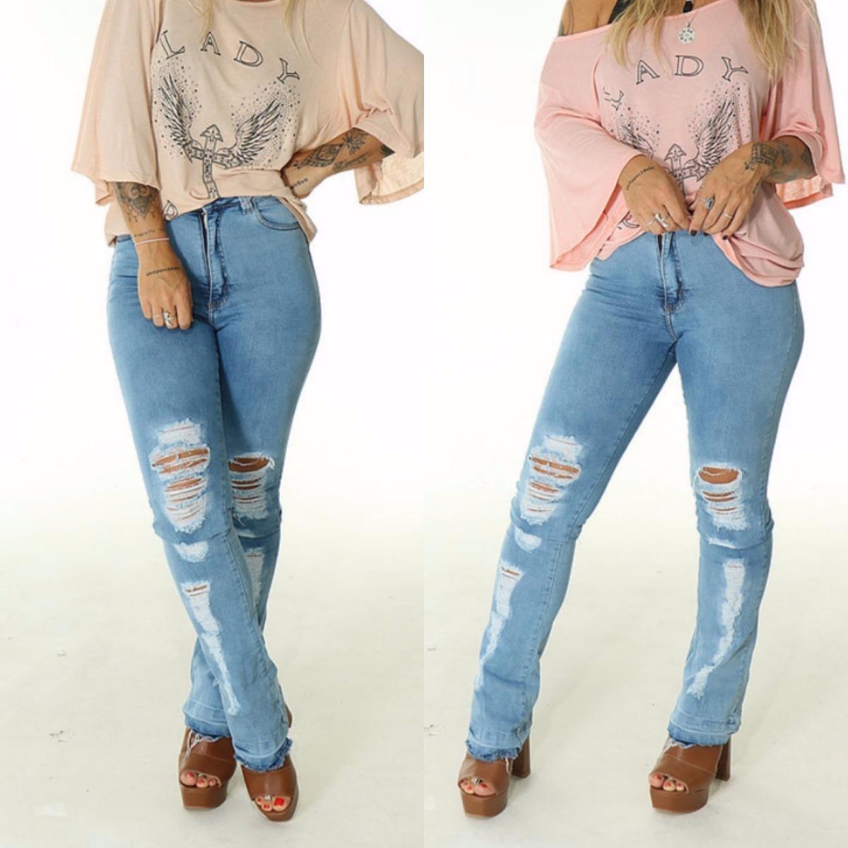 2dca92e02 Características. Marca Lady Rock; Modelo Flare; Gênero Feminino; Material  da calça Jean