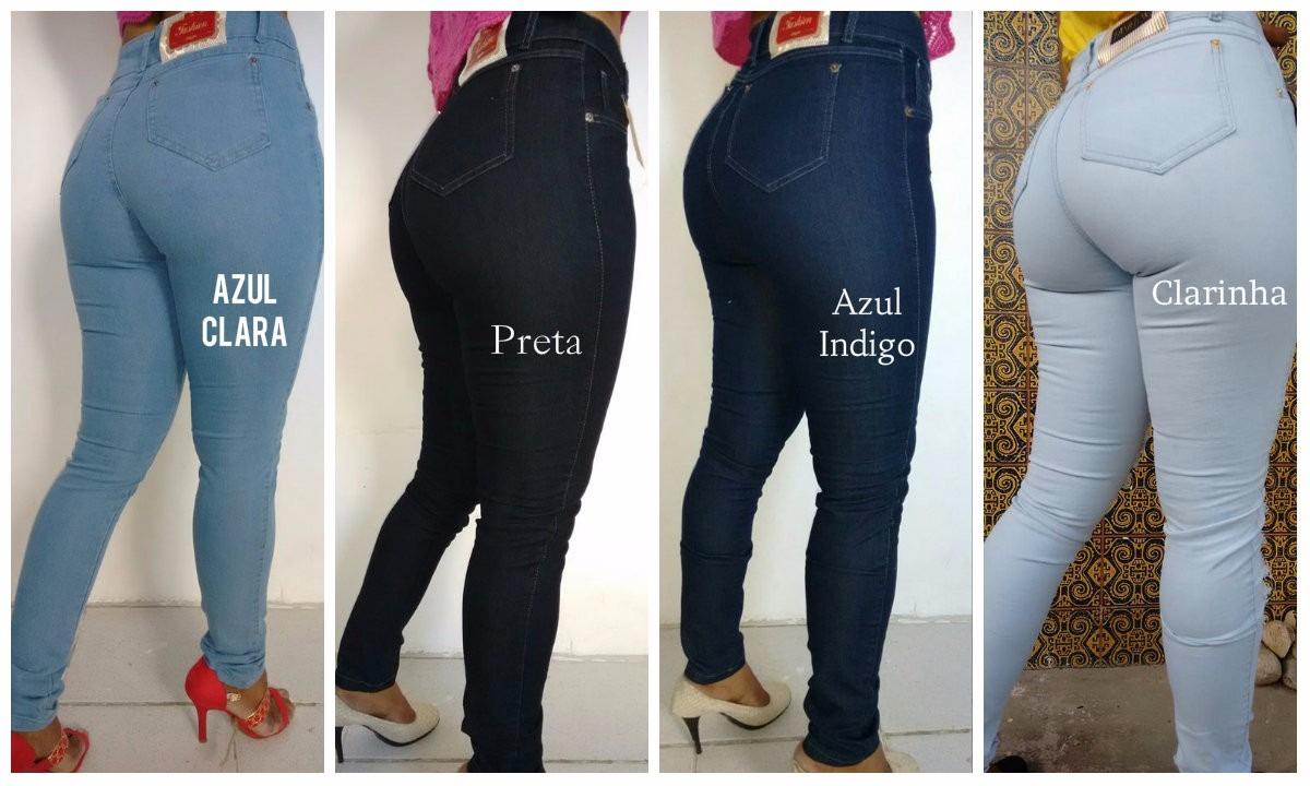 450a4a291 calça jeans levanta bumbum skinny hot pants-cintura alta. Carregando zoom.
