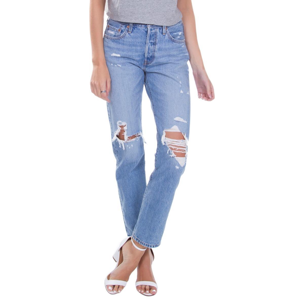 0e6701cf55b6e calça jeans levis feminina 501 original for women azul média. Carregando  zoom.