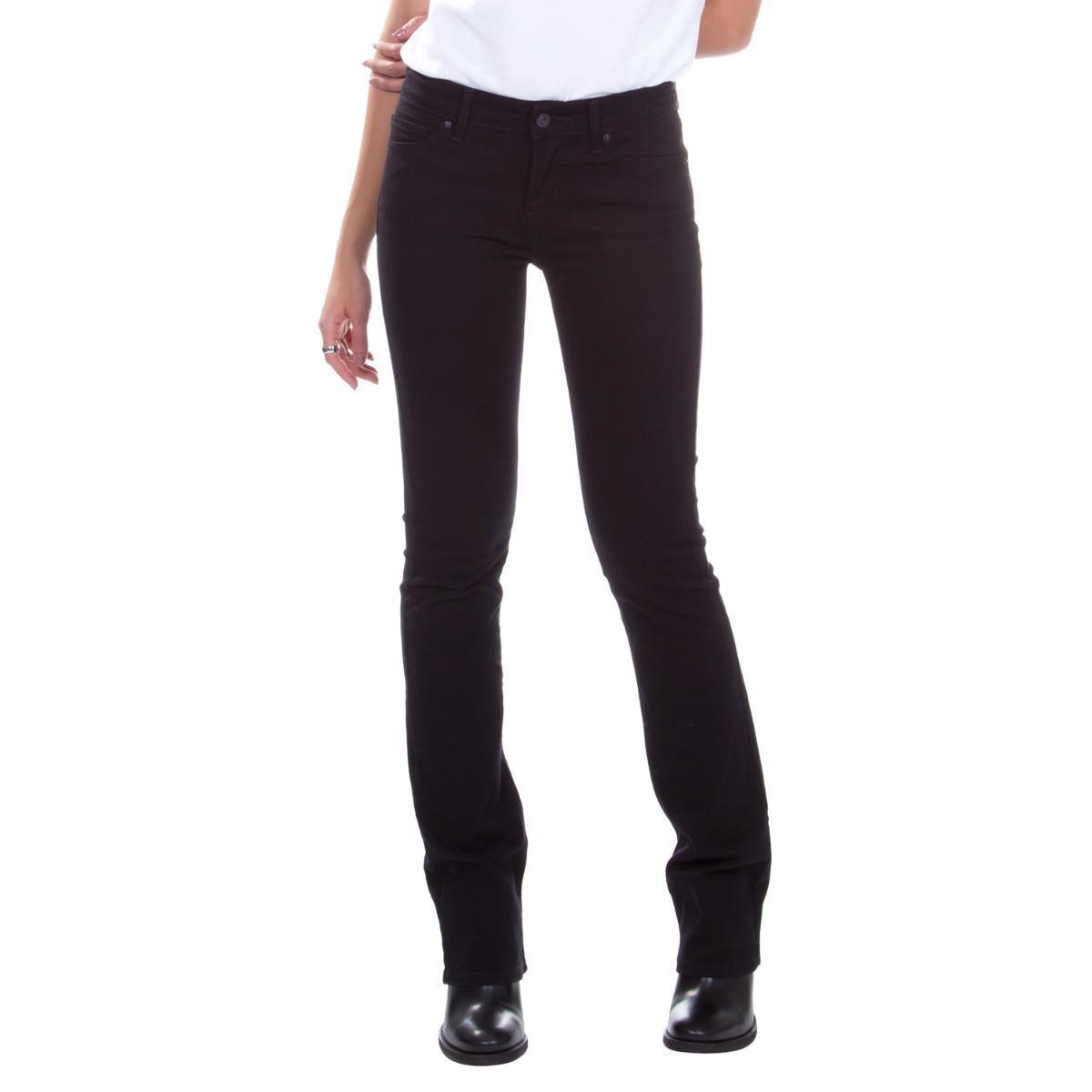 a37b67e8f Calça Jeans Levis Feminina 715 Bootcut Preta - R$ 289,90 em Mercado ...