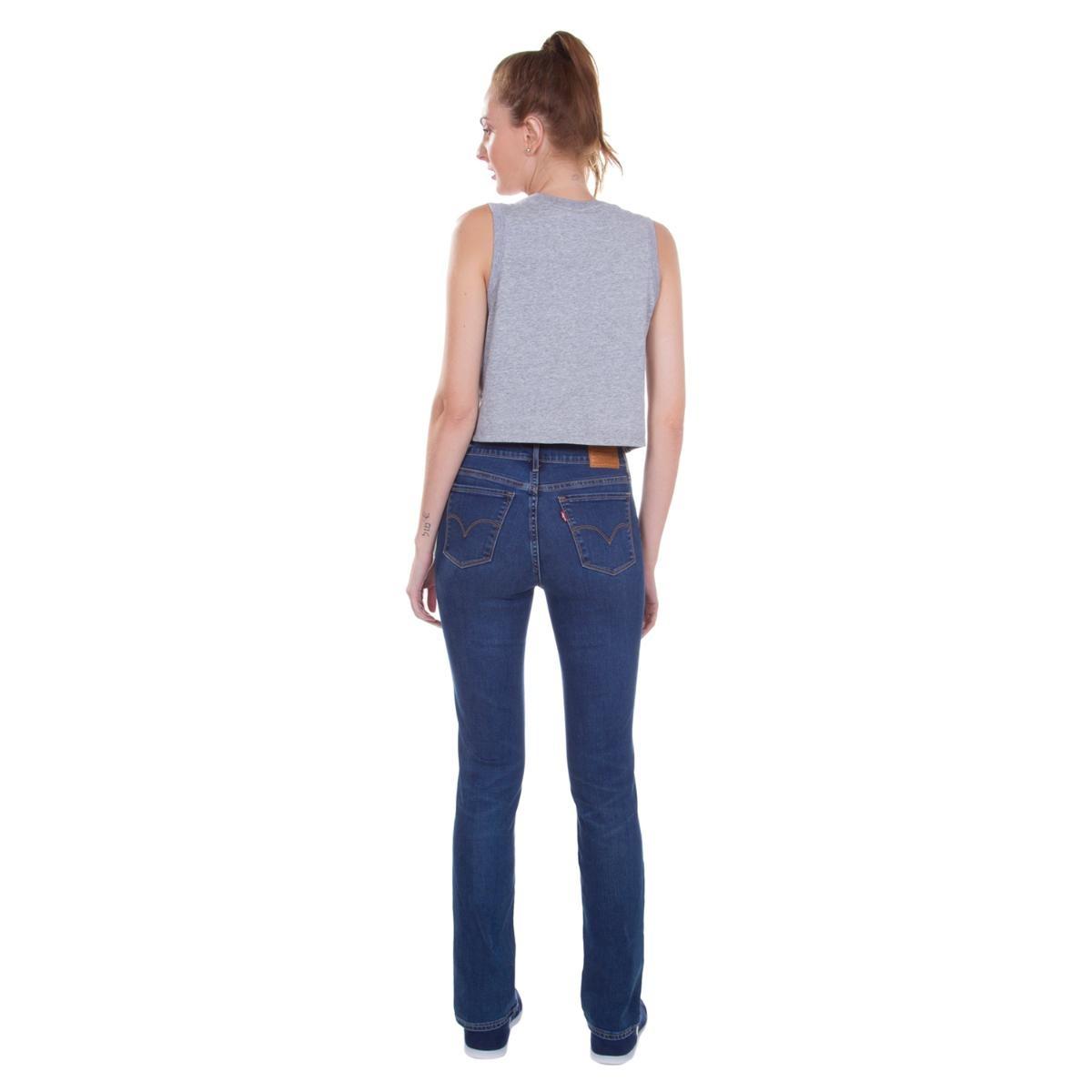 calça jeans levis feminina 724 high rise straight azul média. Carregando  zoom. fc0e3c86bd0