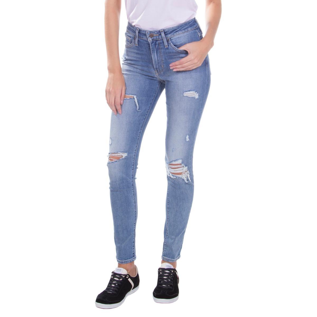calça jeans levis feminino 721 high rise skinny azul médio. Carregando zoom. b4cfda165e
