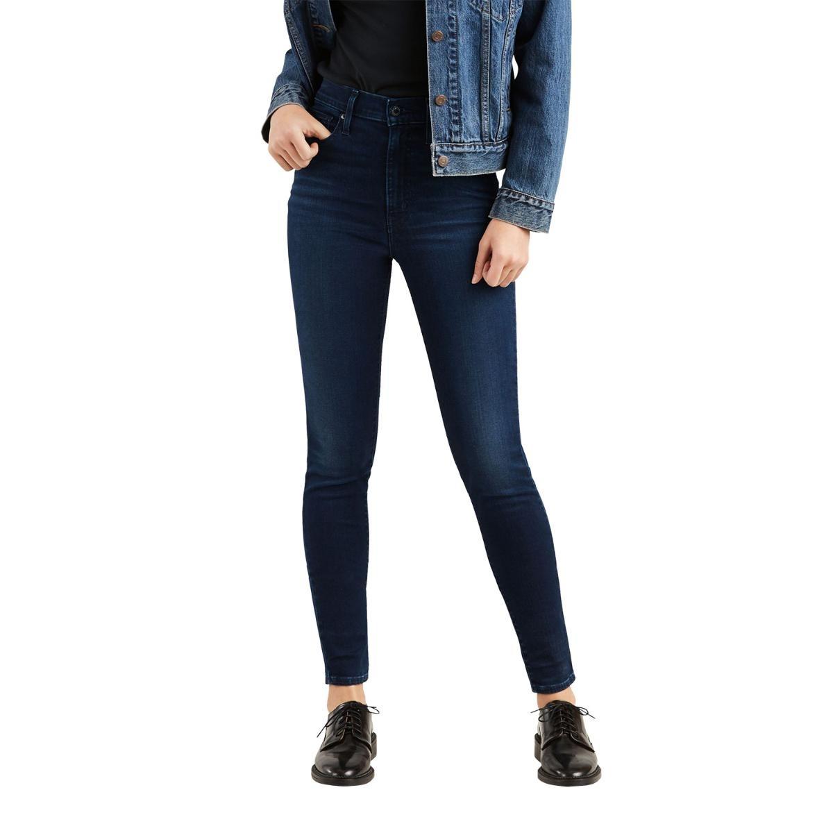 calça jeans levis feminino mile high super skinny escuro. Carregando zoom. f703a8755e5