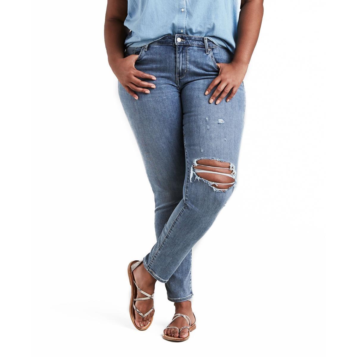 calça jeans levis women 711 skinny plus size média destroyed. Carregando  zoom. 93ef2bfdf5c