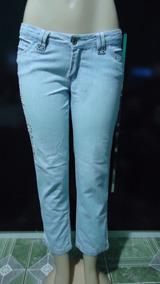 393df8b8d Lucas E Adriano Femininas Calcas Jeans Stretch Capri Lycra ...