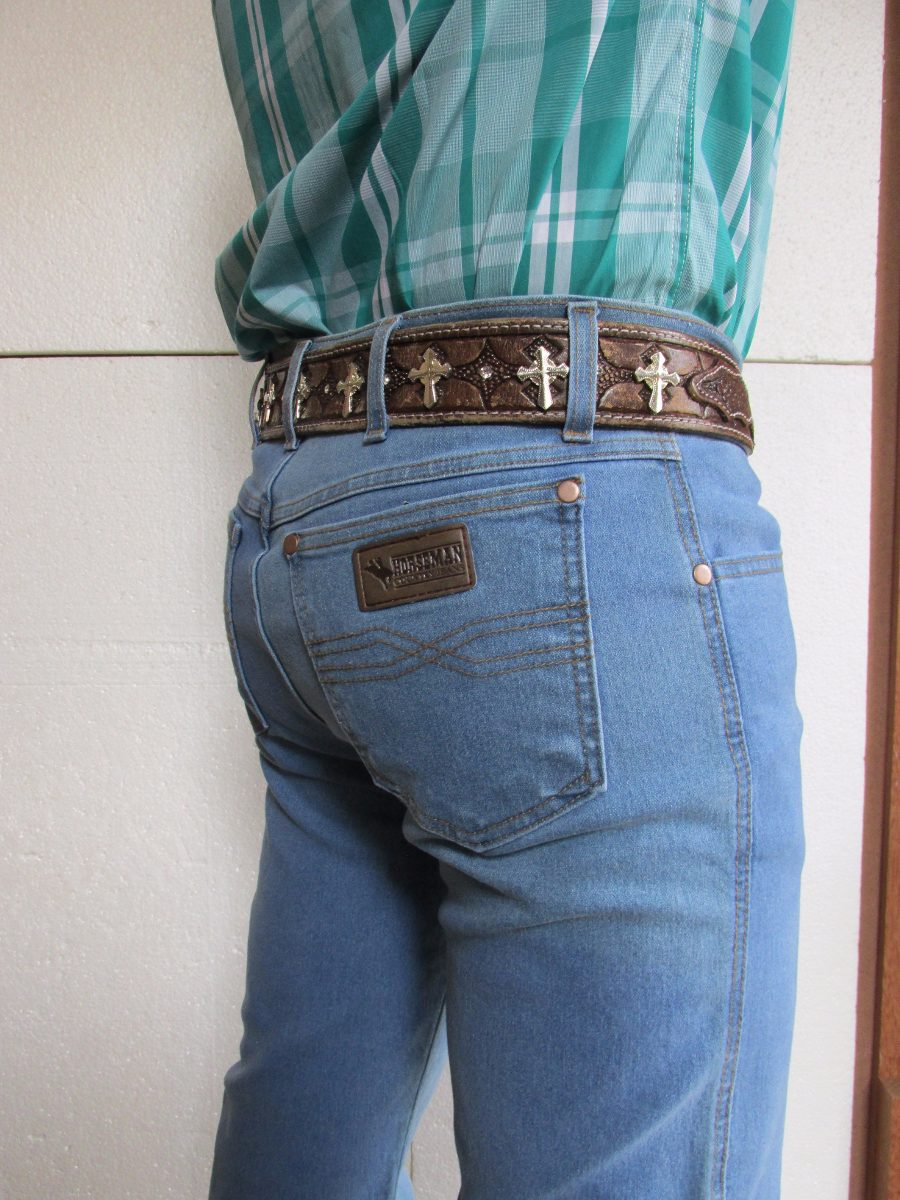 Calça Jeans Masc Country Azul Delavê C Lycra Docks - R  163 0c574017436