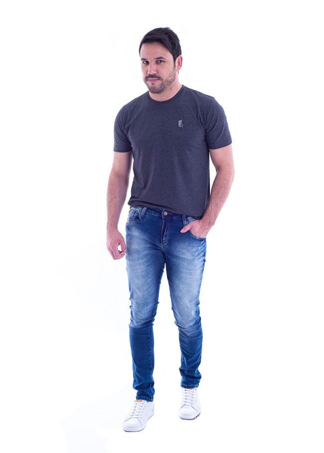 4278a8fb12332 calça jeans masculina abraham max denim - tamanho 38 ao 48. Carregando zoom.