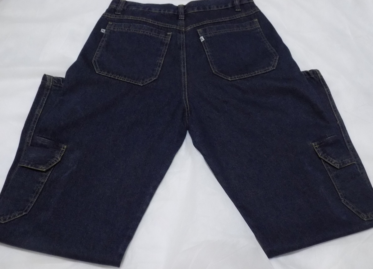 calça jeans masculina cargo - com bolsos na perna - promoção. Carregando  zoom. c127740a6ac