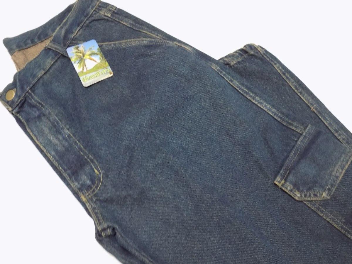 calça jeans masculina cargo com bolsos perna tamanhos grande. Carregando  zoom. b215db77fa7