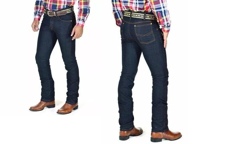 45b11b72e46cc calça jeans masculina estilo country lycra kaeru kit 10 uni. Carregando  zoom.