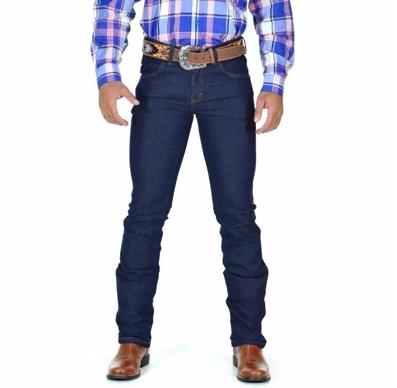 7c35464055006 calça jeans masculina estilo country lycra kaeru promoção. Carregando zoom.