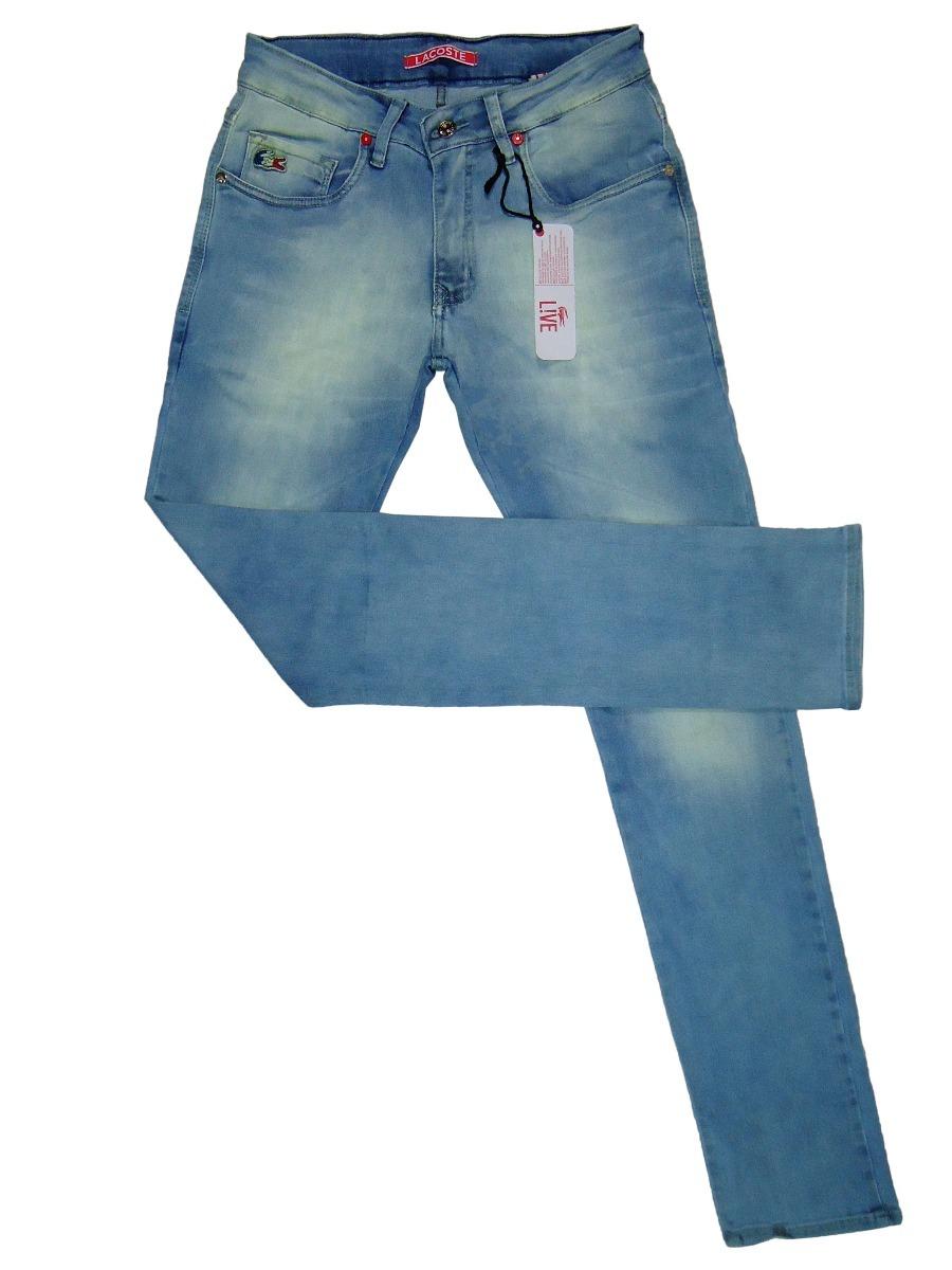 4b167e223881f calça jeans masculina lacoste live! slim fit c  stretch. Carregando zoom.