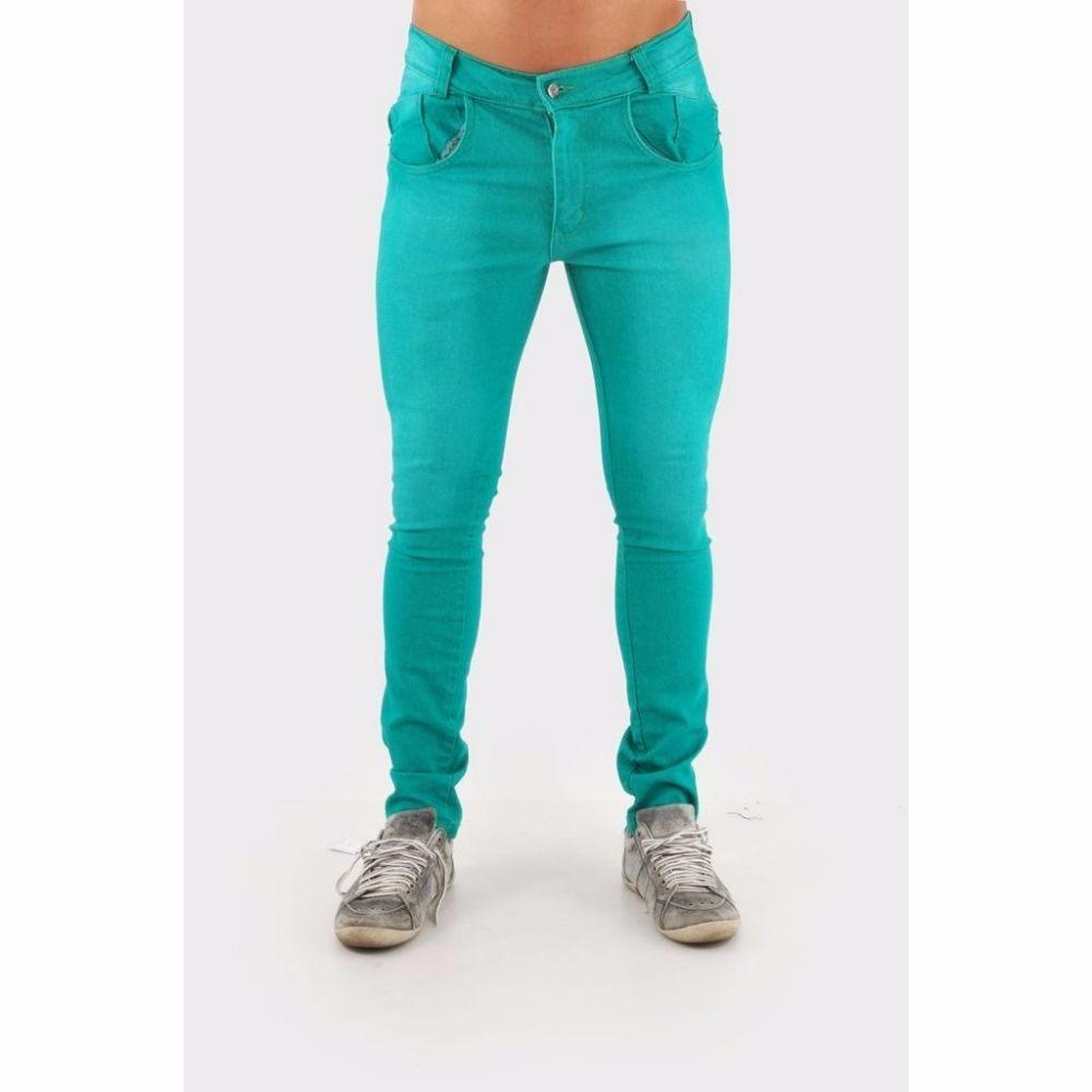 97b1ab0ed calça jeans masculina lycra skinny verde pronta entrega. Carregando zoom.