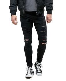 6a1dcf3e7 Calça Jeans Destroyed Masculina - Calças Jeans Masculino no Mercado ...