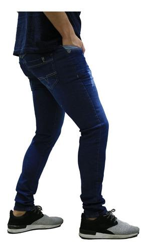 calça jeans masculina skinny azul *102