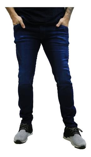 calça jeans masculina skinny azul *104