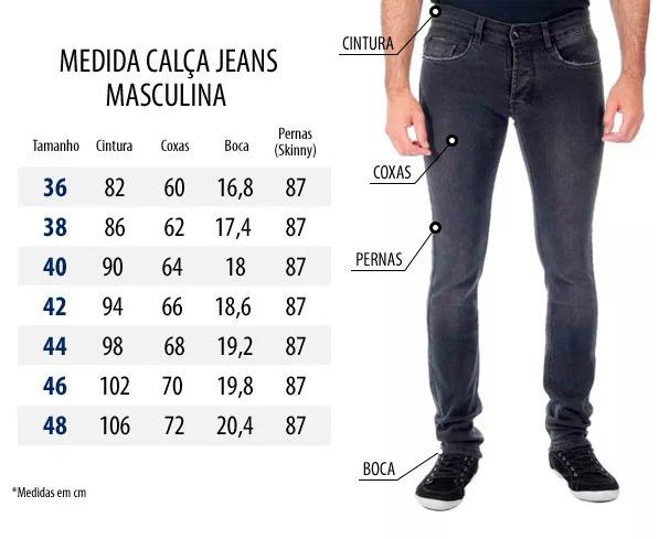 155c2c4e0 Calça Jeans Masculina Slim Fit Cinza Promoção Fabrica 40%off - R  69 ...