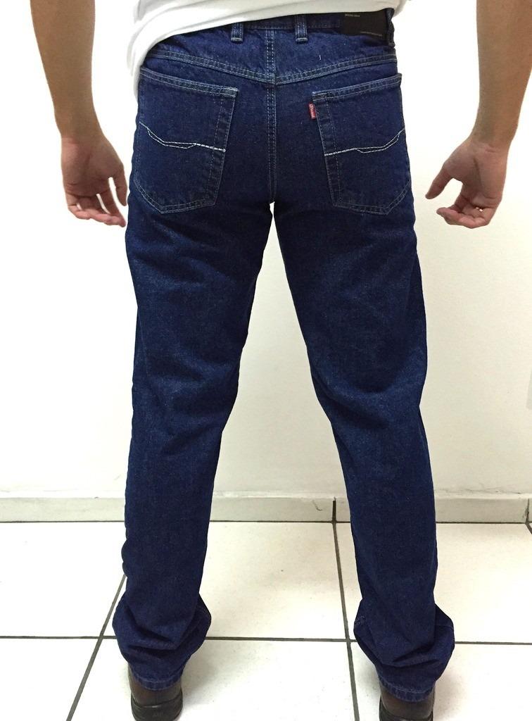 b4eba2be321 calça jeans masculina tradicional s  lycra azul. Carregando zoom.