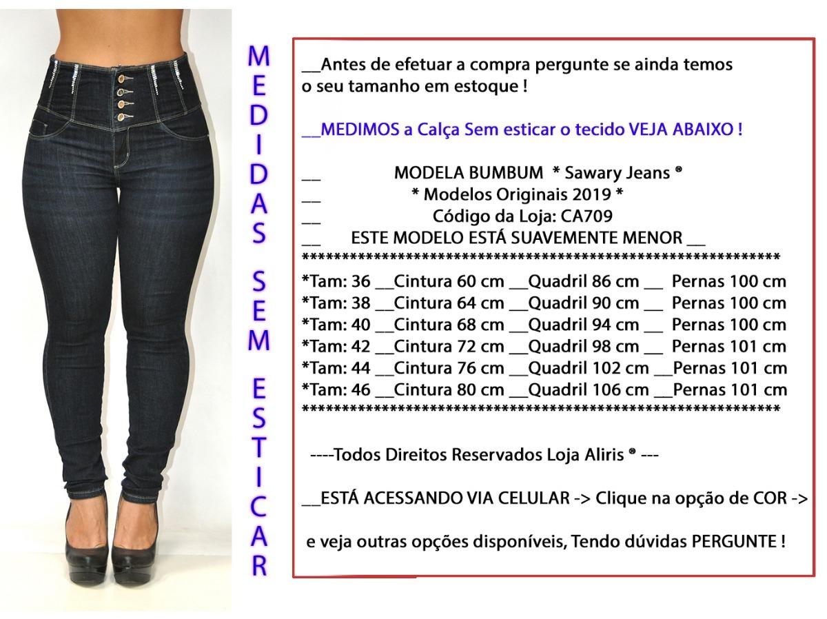 calça jeans modela bumbum 709 azul escura cintura super alta. Carregando  zoom. 7d49467c66b