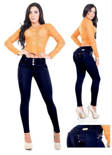 calça jeans modeladora com lycra estilo pitbull cola levanta