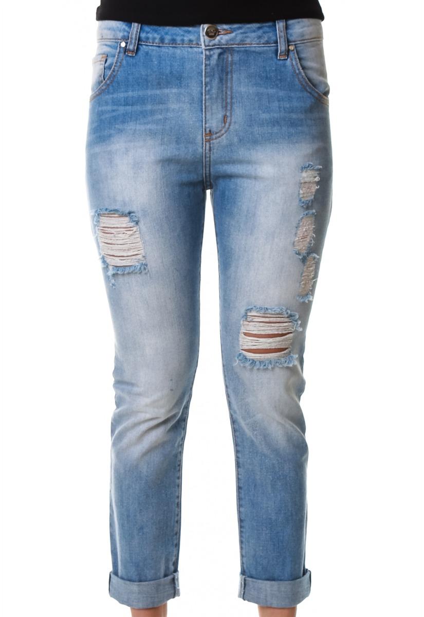 997b3d442 Calça Jeans Multi Ponto Denim Boyfriend Clara - R$ 149,90 em Mercado ...