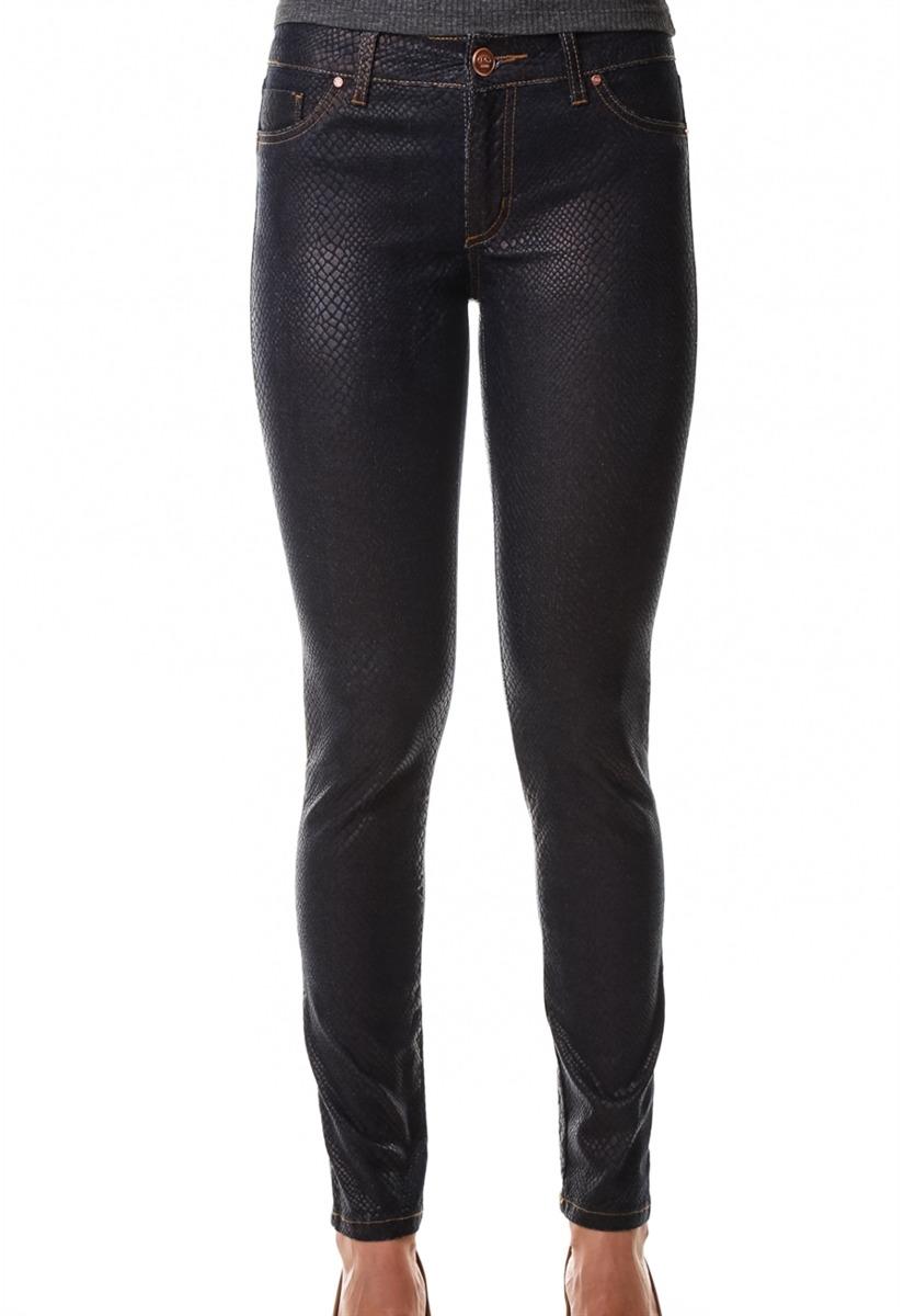cab198039 Calça Jeans Multi Ponto Denim Skinny Resina Croco - R  89