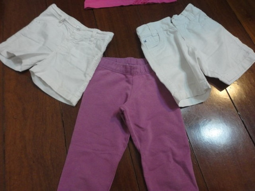 calça jeans n° 4 mais camisa + 02 shotes jeans branco
